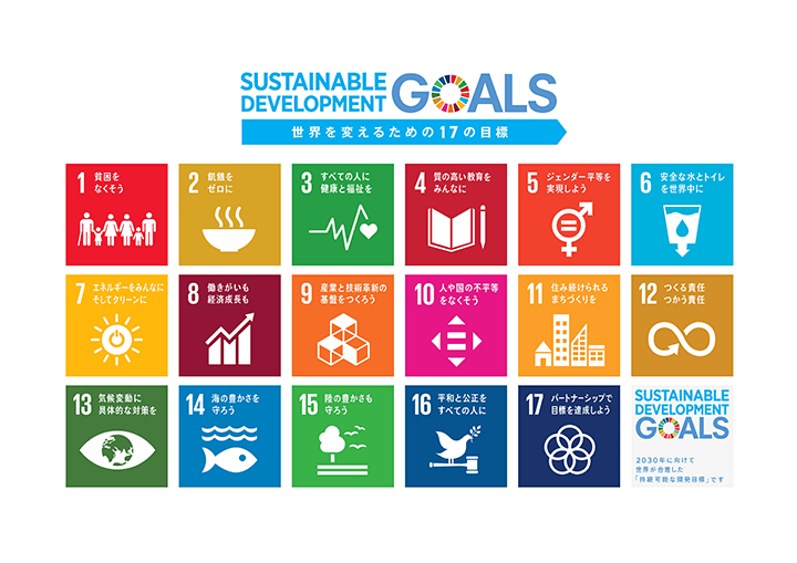 SUSAINABLE DEVELOPMENT GOALS 世界を変えるための17の目標